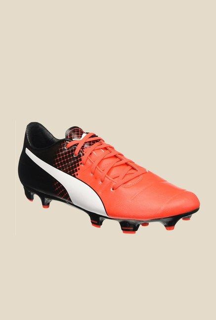 Puma evoPOWER 3.3 FG Red Blast & Black Football Shoes