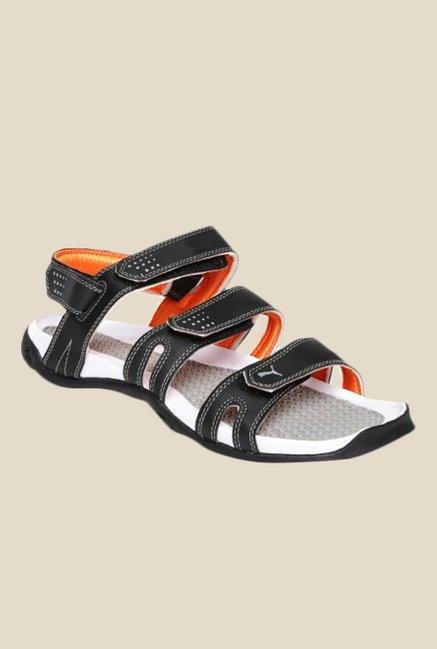 Buy Puma Aripon 3 DP Black   Limestone Grey Floater Sandals for Men at Best  Price   TataCLiQ 68b20b21d