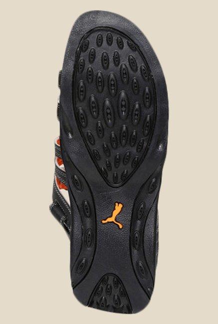 Buy Puma Aripon 3 DP Black   Limestone Grey Floater Sandals for Men ... 6d82d0d47