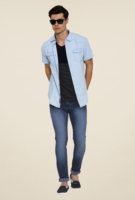 Hubberholme Blue Lightly Washed Jeans