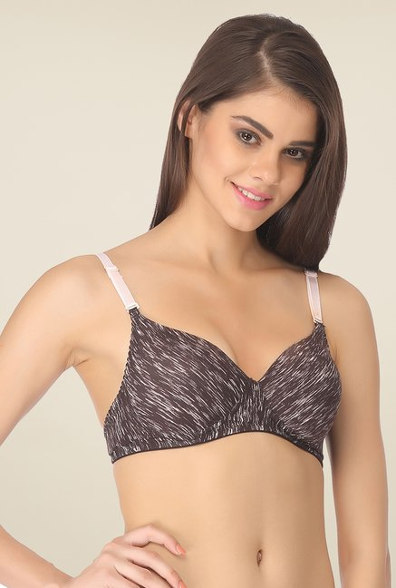 Clovia Brown Padded T Shirt Bra