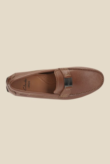 Clarks Davont Saddle Tan Loafers