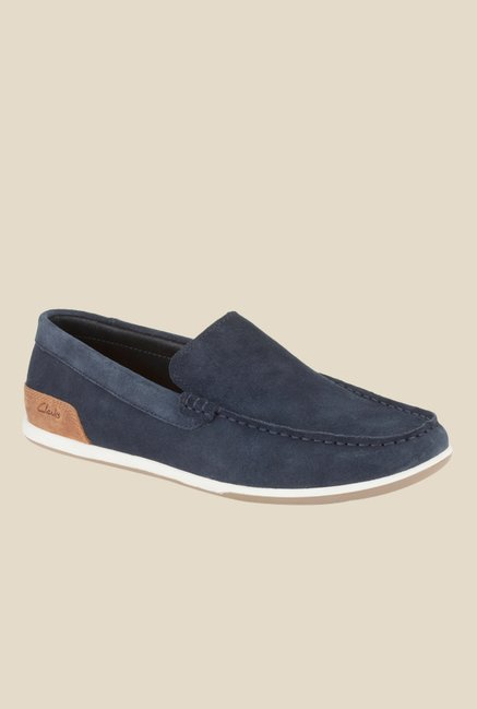 94963958f0979 Buy Clarks Medly Sun Navy Loafers for Men at Best Price @ Tata CLiQ
