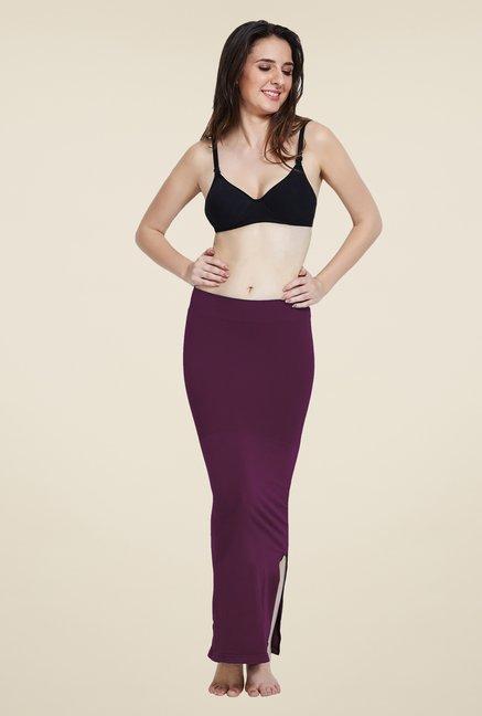 Zivame Wine Mermaid Saree Shapewear