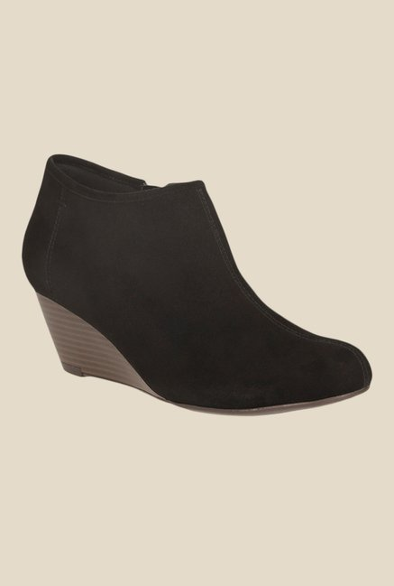 9ee7b23293f Buy Clarks Brielle Abby Black Wedge Heeled Booties for Women at Best ...