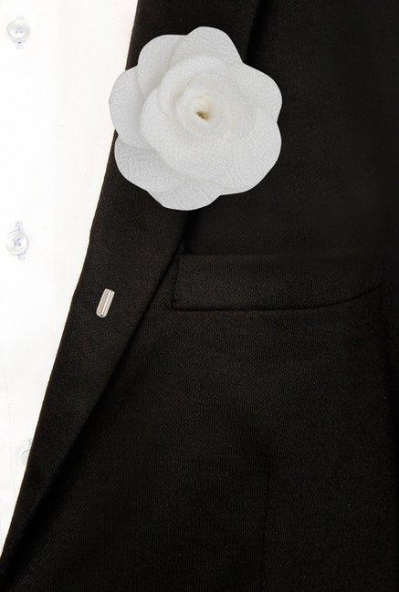 Buy The Bro Code White Poppy Flower Lapel Pin For Men At Best Price