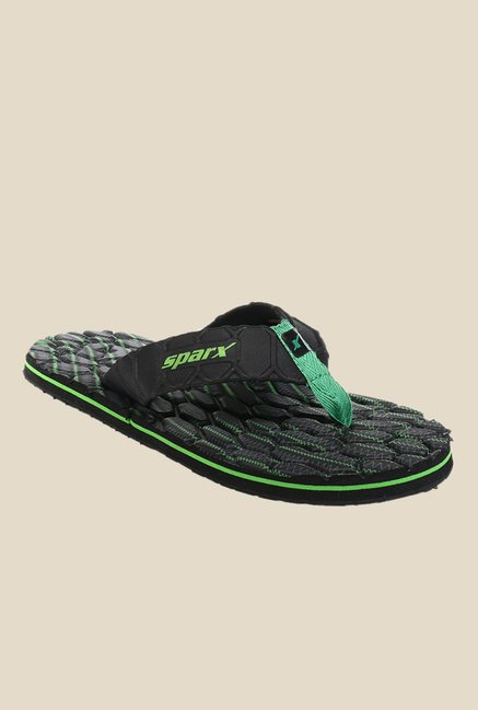 65e01d282 Buy Sparx Black   Green Flip Flops for Men at Best Price   Tata CLiQ