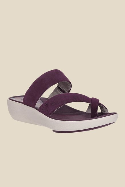 85c08c7abf0 Buy Clarks Wave Bright Purple Wedges for Women at Best Price ...