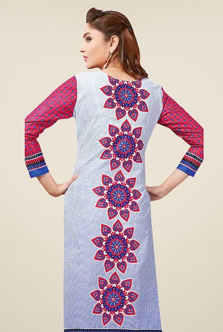 Salwar Studio Grey Unstitched Kurti