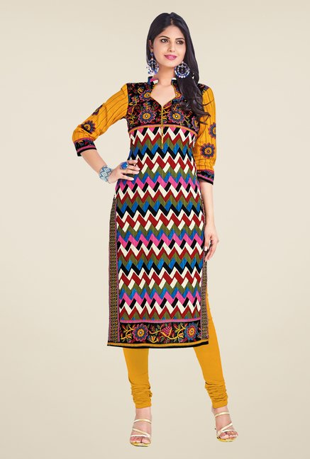 Salwar Studio Multicolor Unstitched Kurti