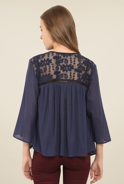 Honey & B Navy Lace Shrug