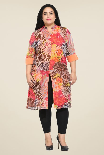 Talinum Peach Printed Tunic