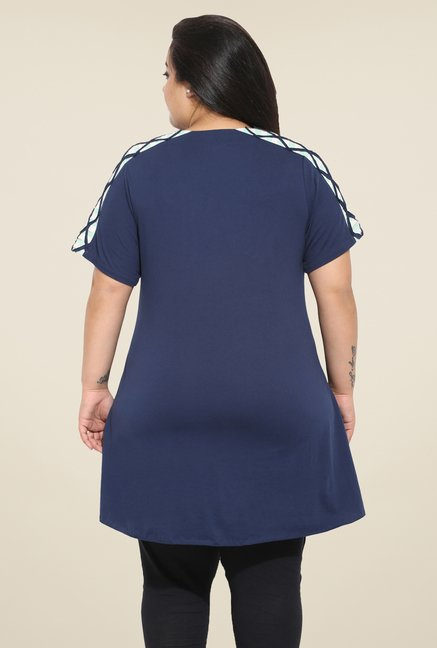 Talinum Navy Solid Tunic