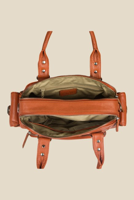 Lomond LM196 Tan Solid Handbag