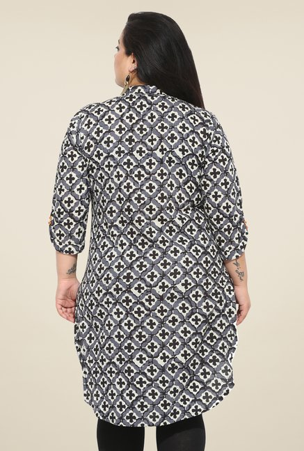 Talinum Grey Printed Tunic