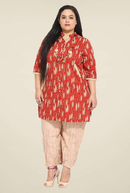 Talinum Red Printed Tunic