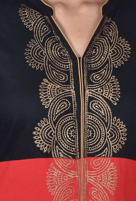 Juniper Red And Black Printed Kurta