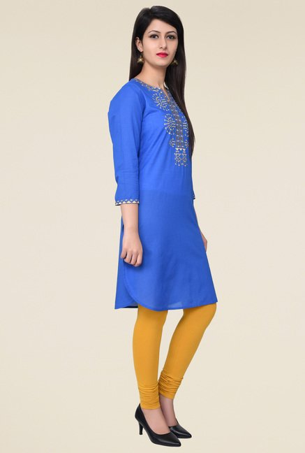 Juniper Blue Embroidered Kurta