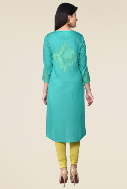 Juniper Green Round Neck Kurta