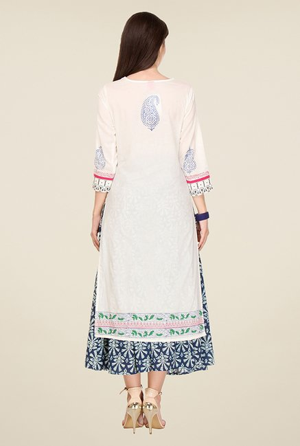 Varanga Off White Printed Kurta