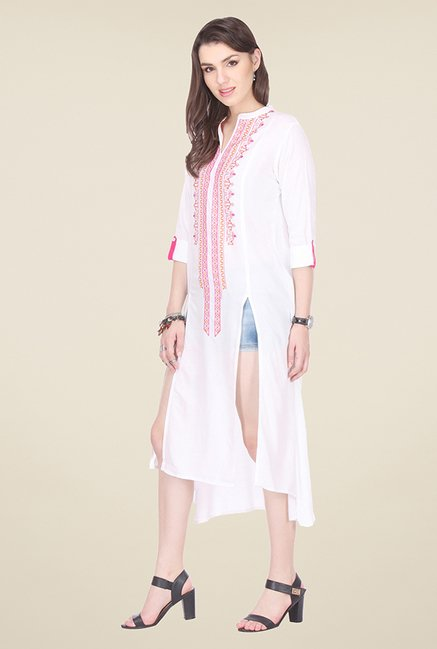 Varanga White Embroidered Tunic