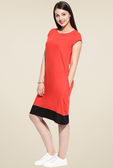 Avaana Orange Short Sleeves Kurta