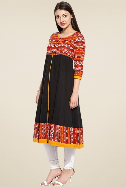Evam Black Anarkali Kurta