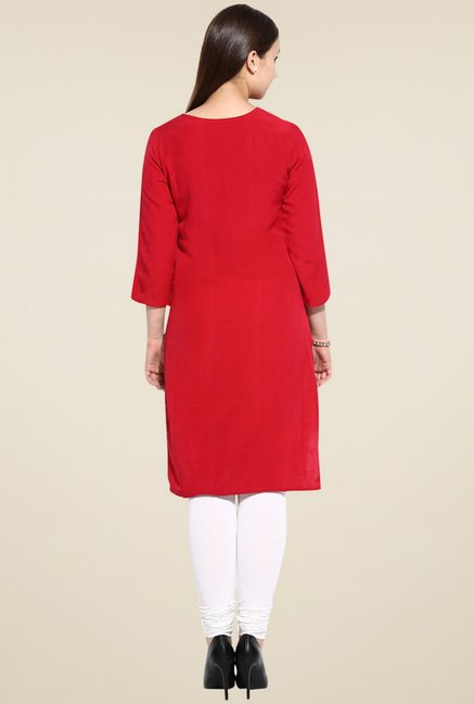 Evam Red Long Kurta