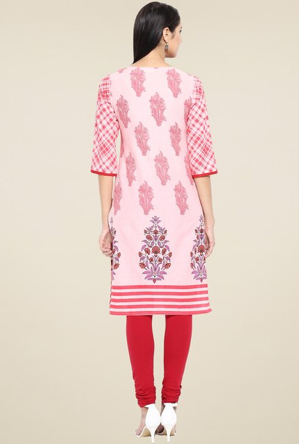 Evam Pink Straight Long Kurta