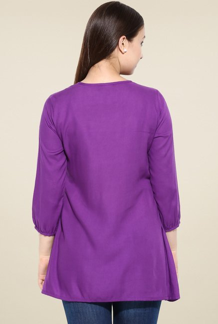 Avaana Purple Short Kurta