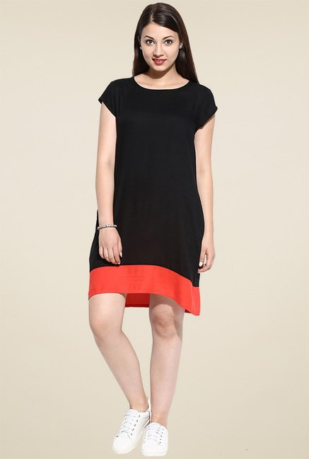 Avaana Black Short Sleeves Kurta