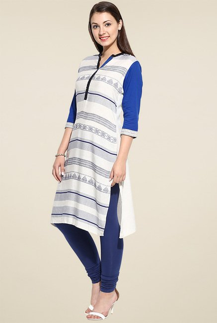 Evam Blue Cotton Kurta