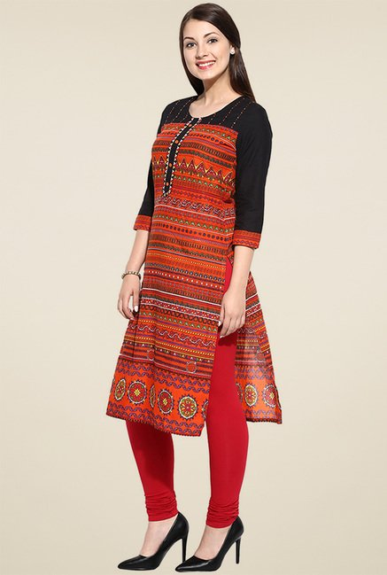 Avaana Orange Long Kurta
