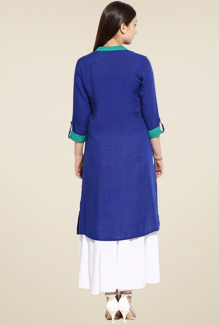 Evam Blue Long Kurta