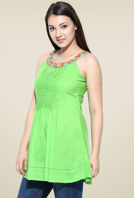 Avaana Lime Long Kurta