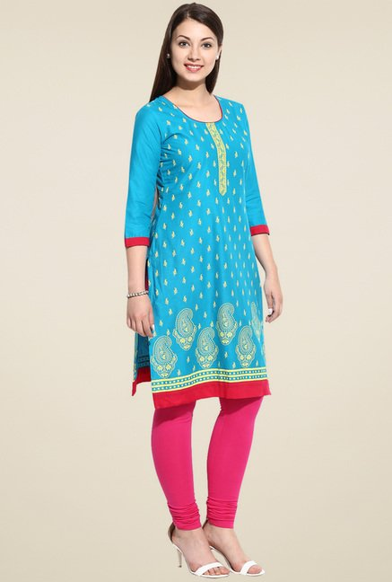 Evam Green Straight Long Kurta