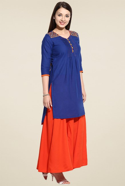 Avaana Blue Long Kurta
