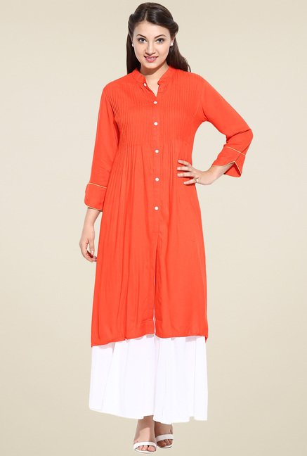Avaana Orange Approved Long Kurta