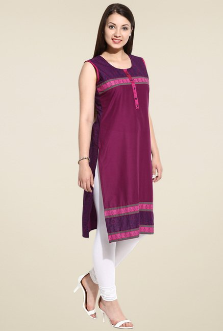 Evam Wine Long Kurta