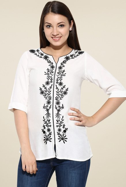 Avaana Off-White Short Kurta