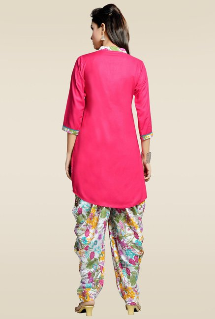 Zola Pink Kurta with Multicolor Patiyala