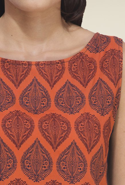 Rigo Orange Printed Kurta