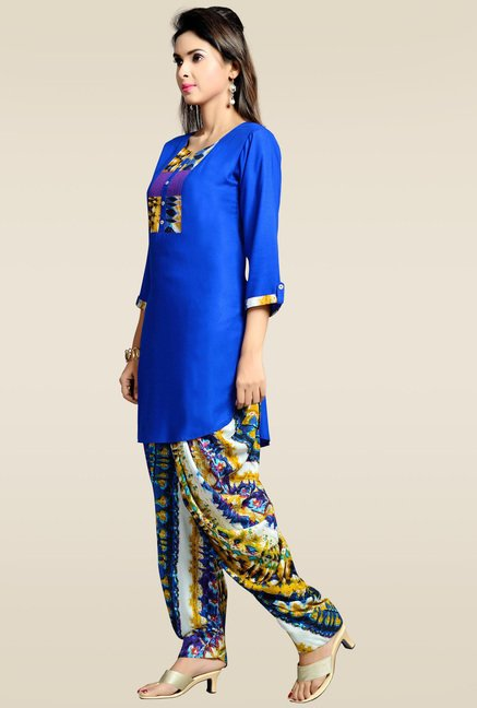 Zola Royal Blue Kurta with Patiyala