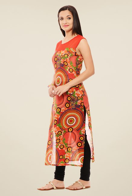 Rigo Red Printed Kurta