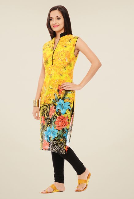 Rigo Yellow Printed Kurta