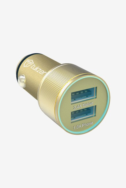 Tukzer 3.4 A Dual USB Universal Car Charger (Gold)