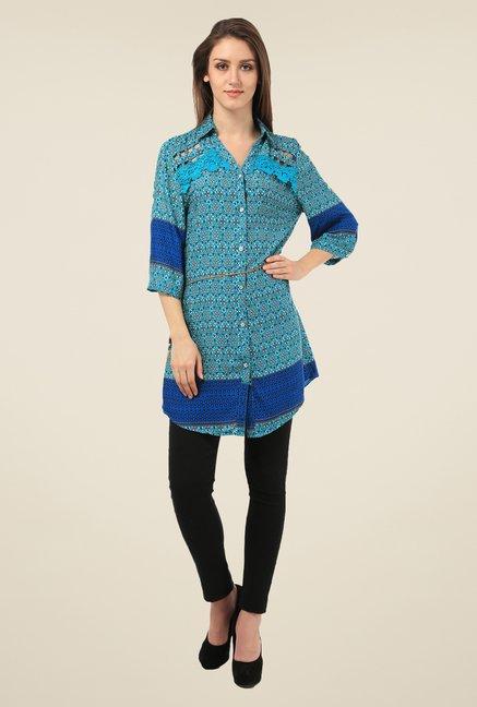 Meee Blue Printed Tunic