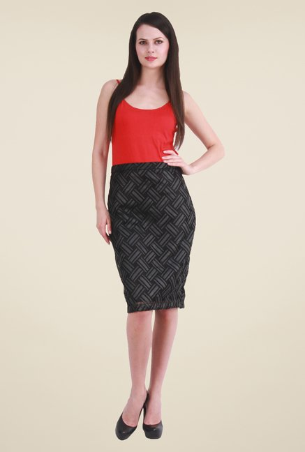 Meee Black Printed Skirt