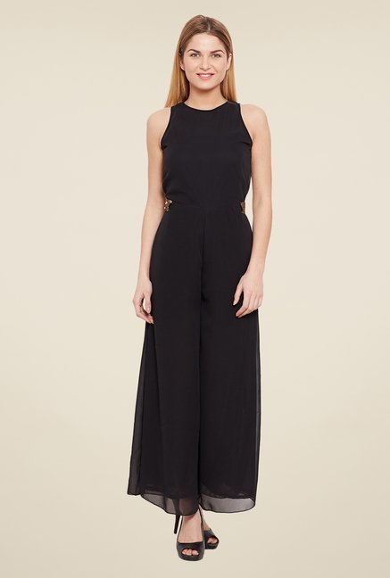 Meee Black Solid Jumpsuit