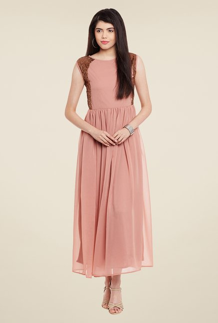 Meee Pink Embellished Dress